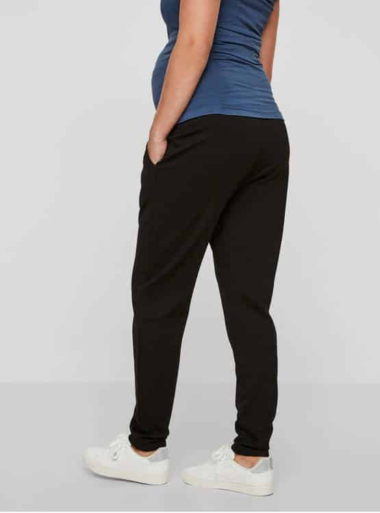 Black Maternity Trousers Mamalicious Lif
