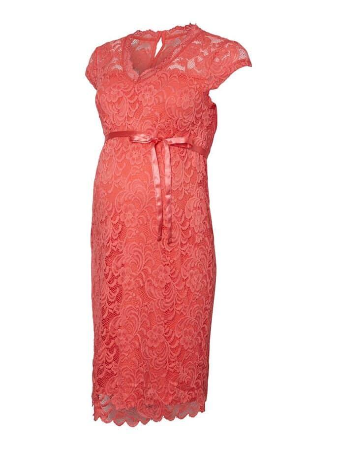Maternity Dress Coral Mamalicious Mivane