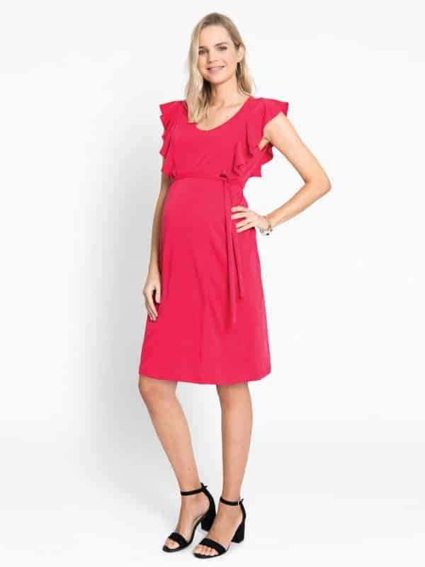 Maternity Dress Jojo Maman Bebe Red
