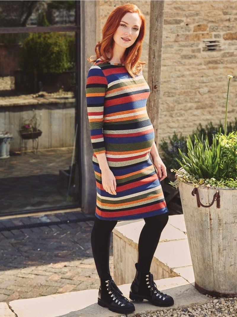 Maternity Dress Jojo Maman Bebe Stripe