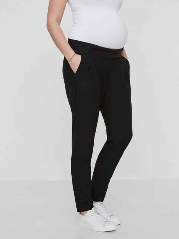 Black Maternity work Trousers Mamalicious