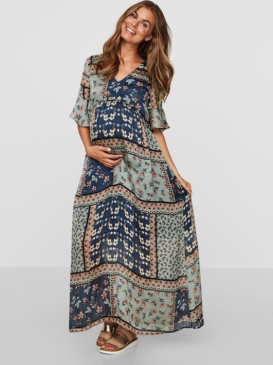 Maternity Maxi Dress Mamalicious Scharlot
