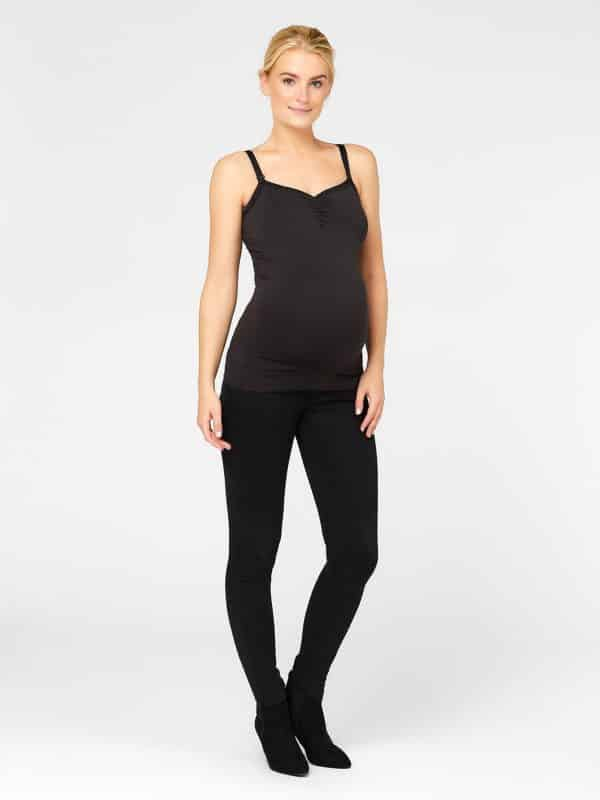 Maternity Nursing Vest Black Mamalicious Milly