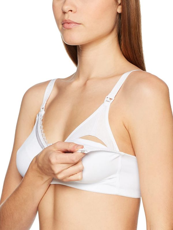 Naturana white Maternity Nursing Bra