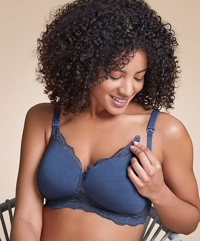 Nursing Bra Royce Indie Denim Blue