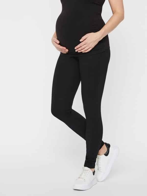 Mamalicious Lea 2 Pack Organic Cotton Leggings