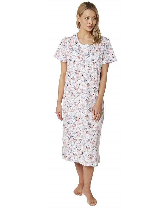 Cotton Short Sleeve Nursing Nightdress Clancy