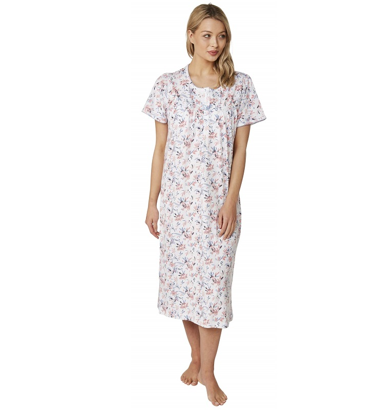 Cotton Short Sleeve Nursing Nightdress Clancy