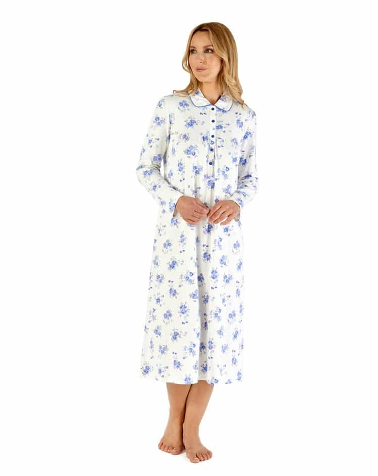 Cotton Floral Nursing Nightdress Slenderella