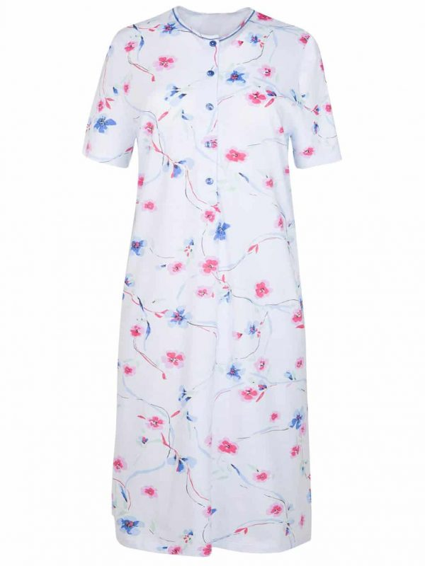 Cybele Blue Floral Nursing Nightdress