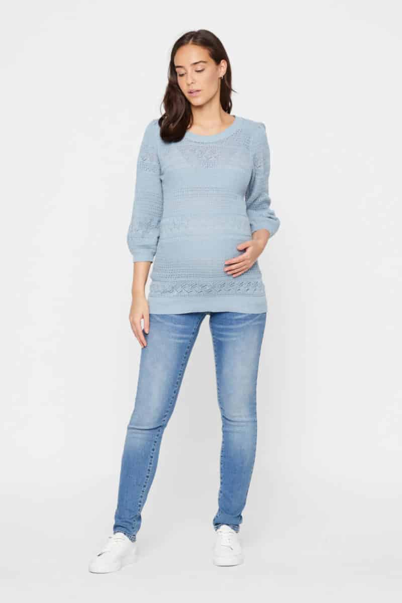 Mamlicious Maternity Jeans Ono Blue