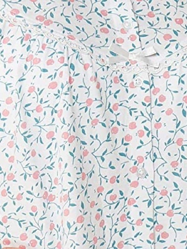 Cotton button down Nightdress Cherry Print Marlon