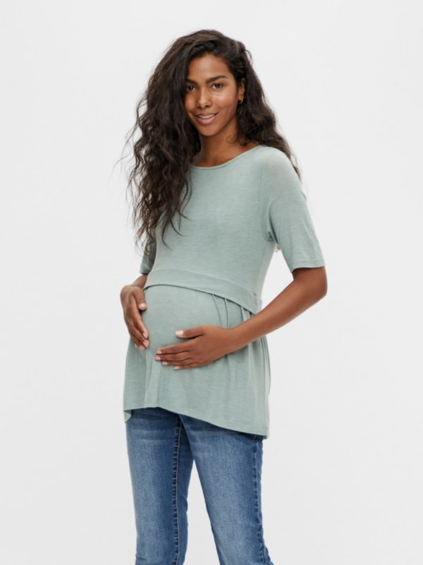 Maternity Nursing Top Green Mamalicious Anabel