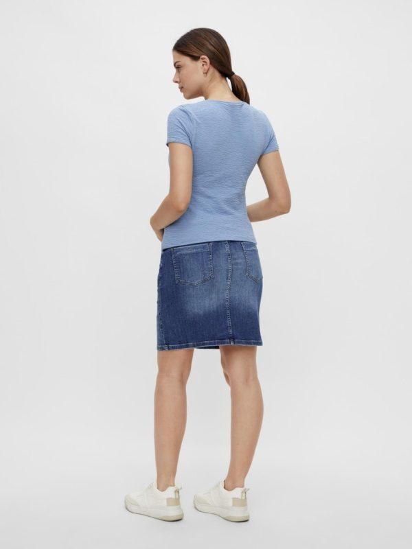 Maternity Skirt Organic Denim Mamalicious